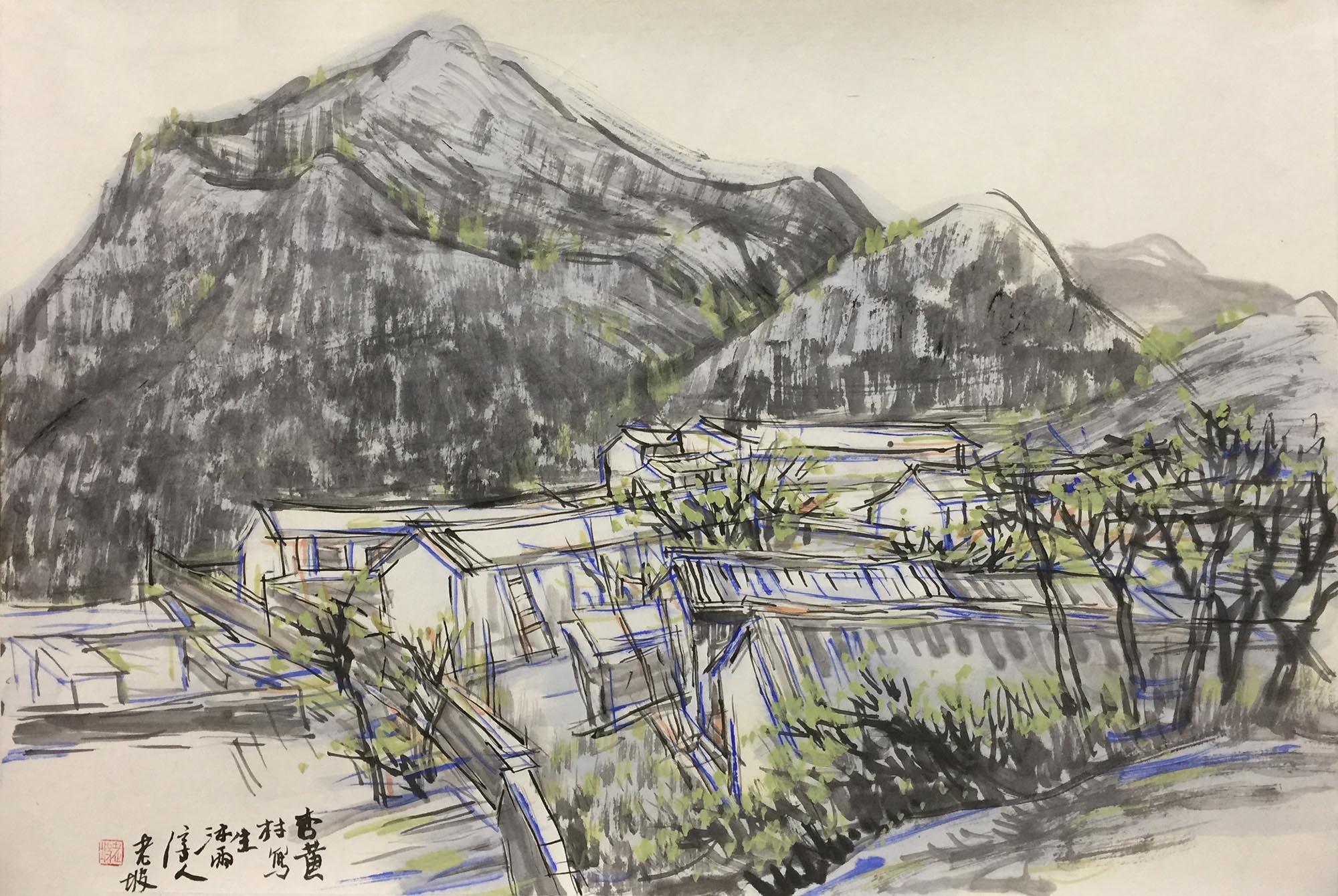 韩敬伟作品2015年写生05