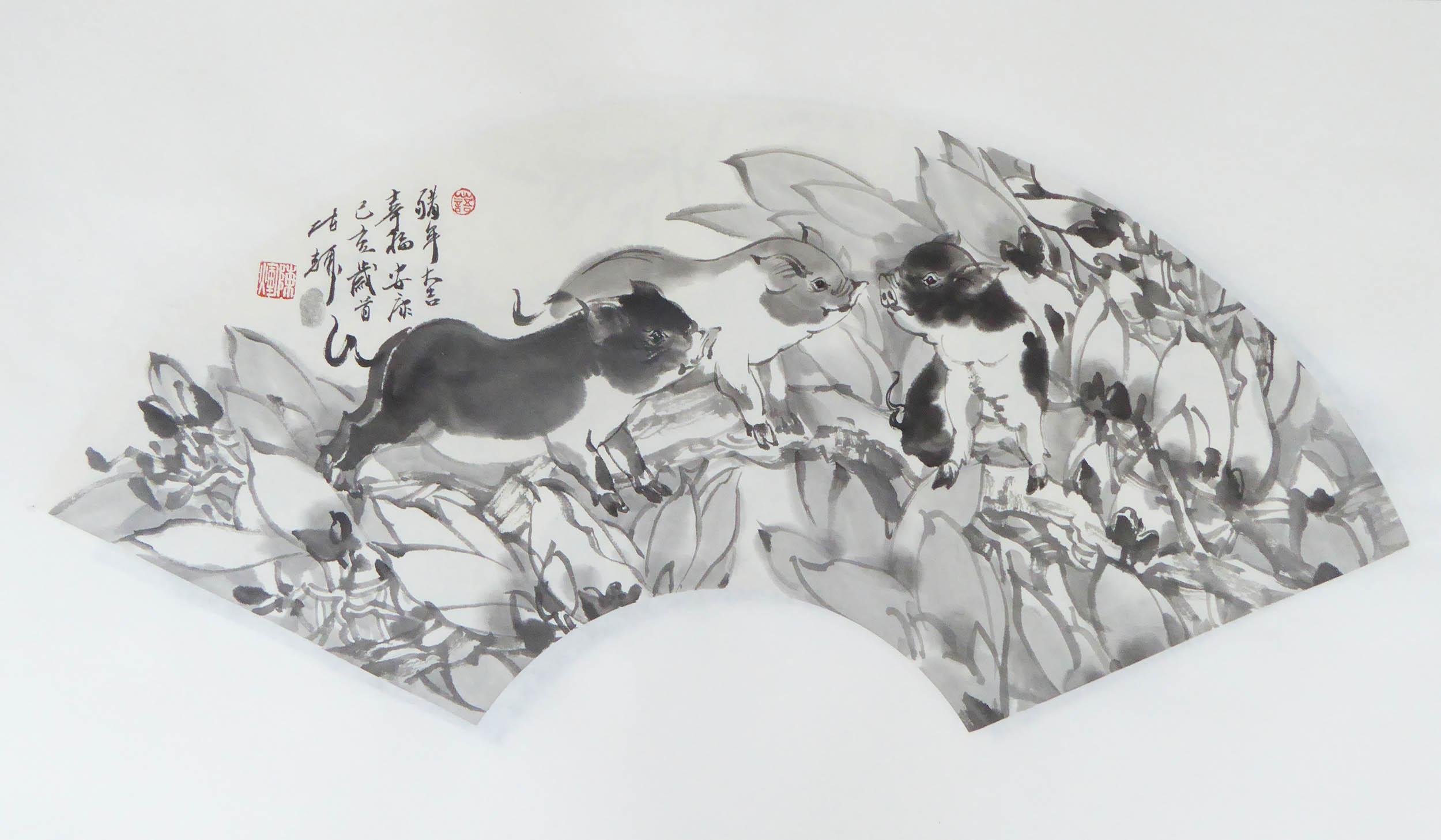 陈辉作品2019猪年吉祥05