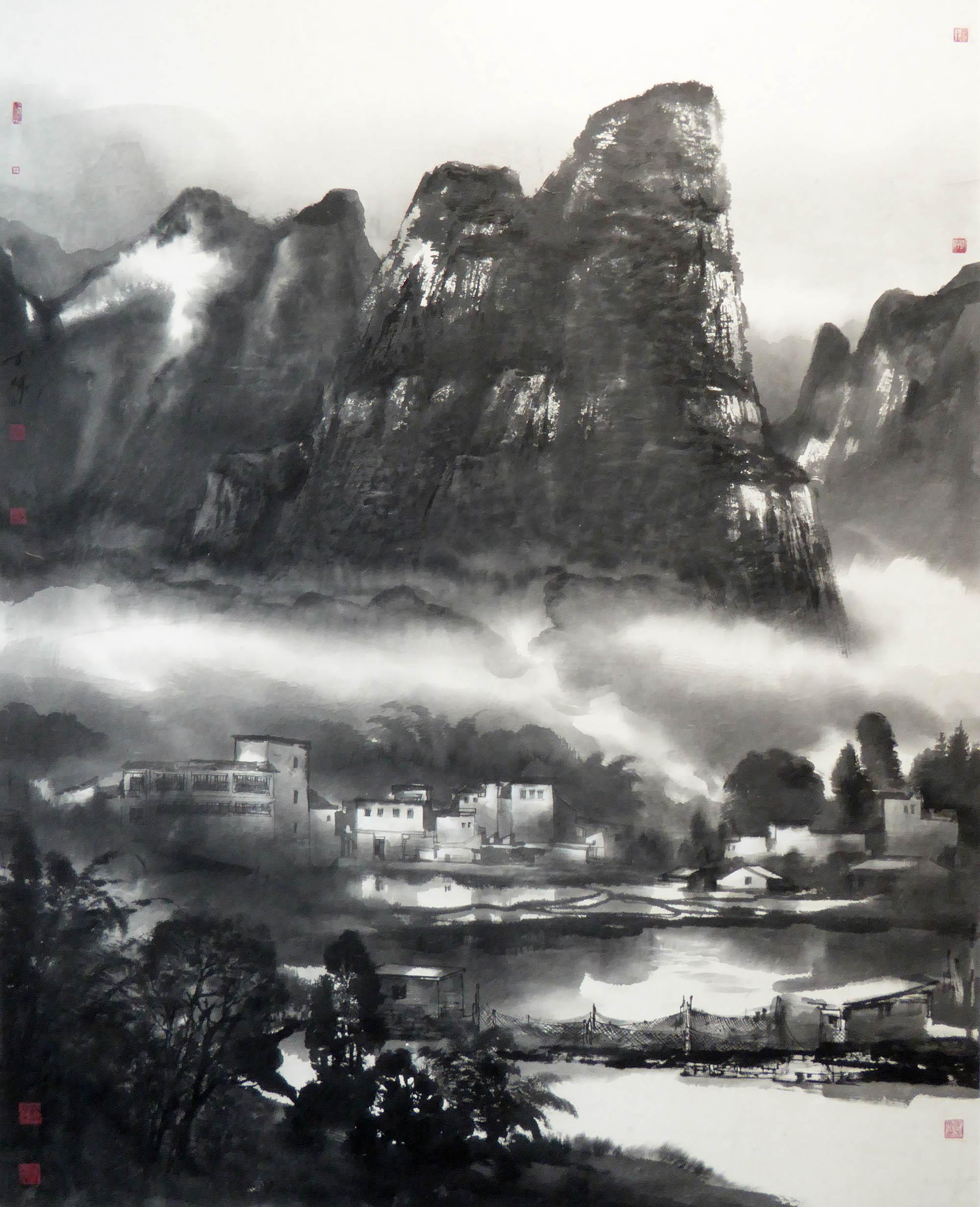 陈辉作品六甲镇的早晨