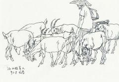 刘大为作品沂山牧羊人