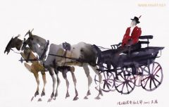 刘大为作品马节上的老式马车