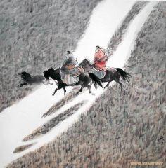 刘大为工作室作品我骑着马儿过草原
