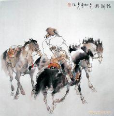 刘大为作品猎骑图