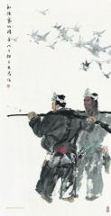 刘大为作品朗德寨的猎手