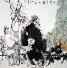 刘大为作品东篱赏菊图