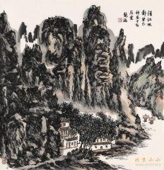 龙瑞作品清江帆影