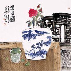 马硕山作品青花系列·夏