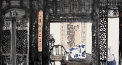 马硕山作品青花系列·皖南风