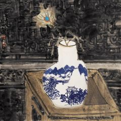马硕山作品青花系列·翎