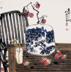 马硕山作品青花系列·荔