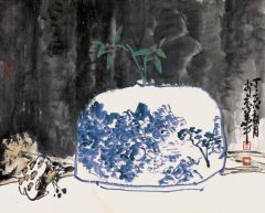 马硕山作品青花系列·兰香
