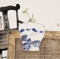 马硕山作品青花系列·兰