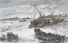 范扬作品西连岛渔港