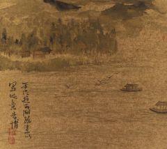 李博作品西湖山水册之三