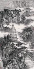 石峰作品嵩岳寺塔图