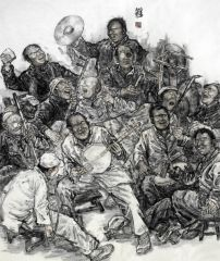 张立奎作品黄土大戏-老腔