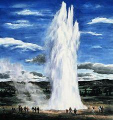 苗再新作品冰岛喷泉
