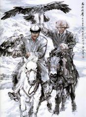 苗再新作品高原雄鹰―柯尔克孜族