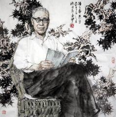 苗再新作品潘天寿先生