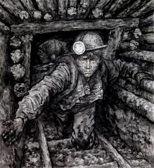 苗再新作品矿工