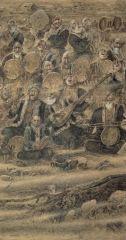 刘选让作品塔克拉玛干之魂局部之三