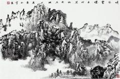 曹福强作品峡谷云烟