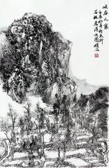 曹福强作品峡谷人家