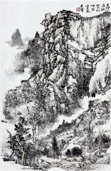 曹福强作品林虑山