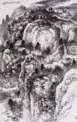 杨永林作品家在太行山中