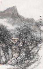 韩敬伟作品山色含疏雨