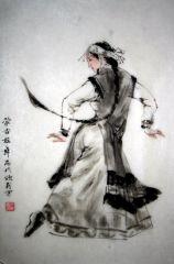 吴欣民作品蒙古族舞