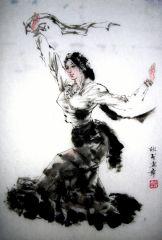 吴欣民作品藏族舞蹈