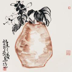 马硕山作品瓶花