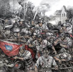 陈琳作品1938·藤县-王铭章将军(合作)