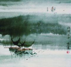刘振江作品湖畔泊舟