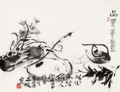 黄三枝作品品茶飬寿
