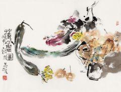 黄三枝作品蔬香图