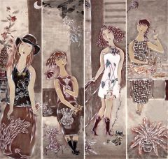 曹娜作品墨香系列