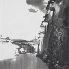 陈辉作品扎什伦布寺一角