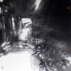 陈辉作品老院子的光线(中国美术馆藏)
