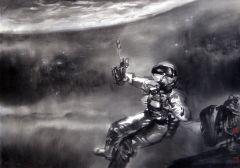 陈辉作品局部一《嫦娥探月》