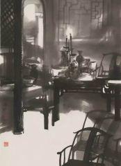 陈辉作品老宅的光线(中国邮政集团公司收藏)