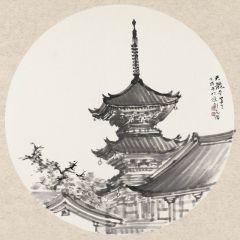 周逢俊作品日本天龙寺