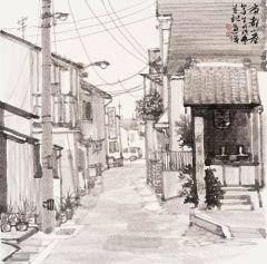周逢俊作品日本京都小巷