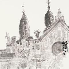 周逢俊作品尼泊尔神庙